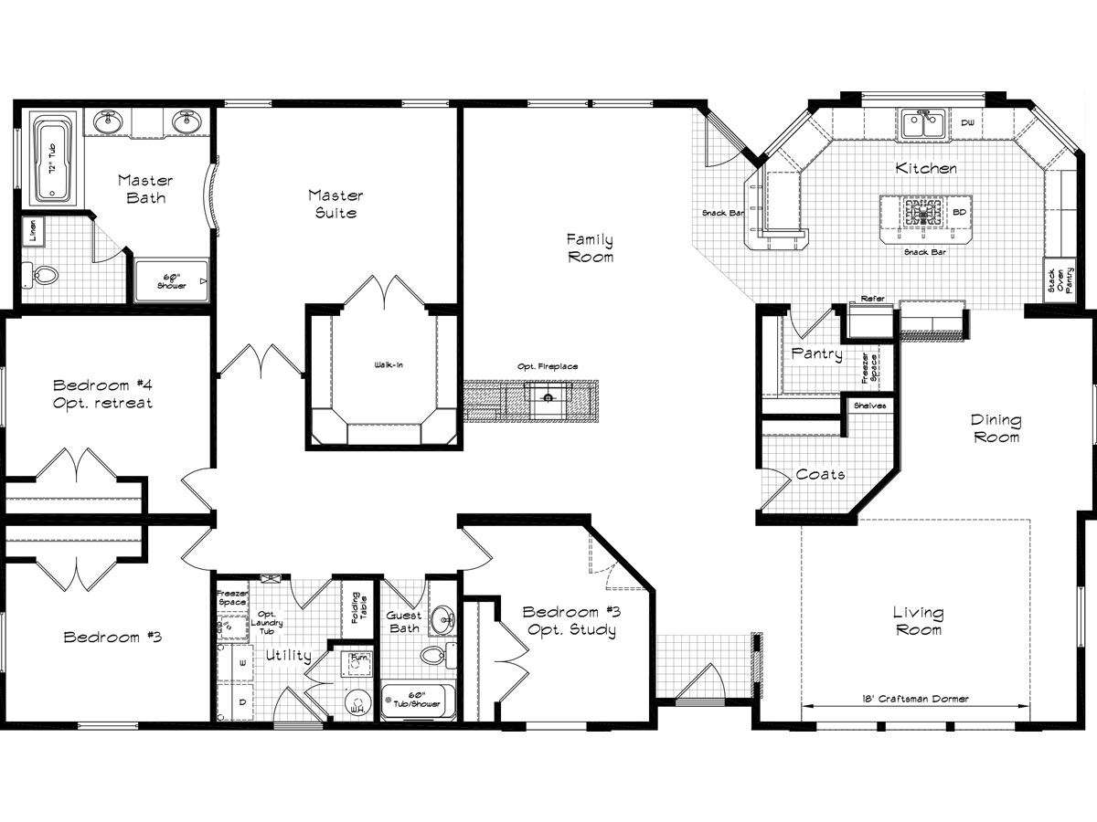 Floor Plan Layout: Golden State / 3013