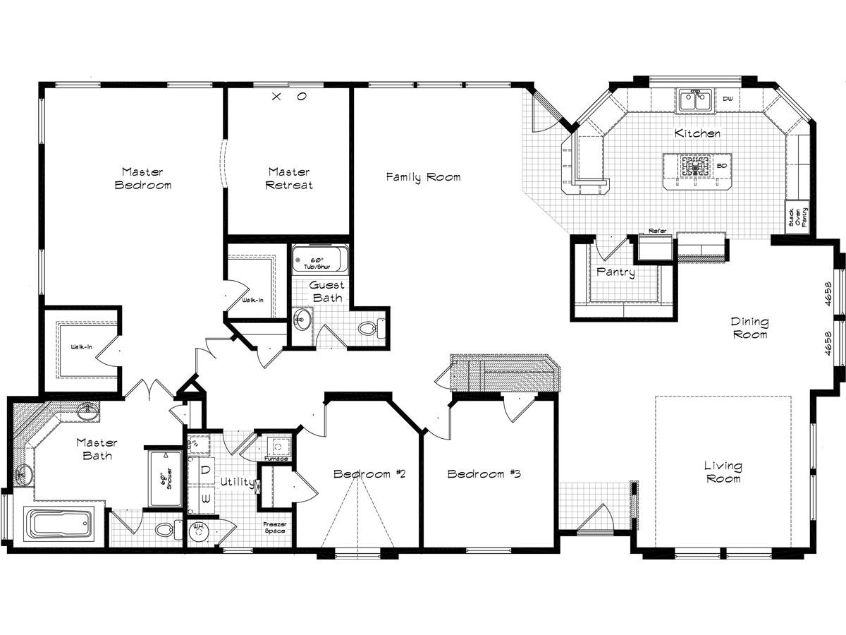 Floor Plan Layout: Golden State / 3014
