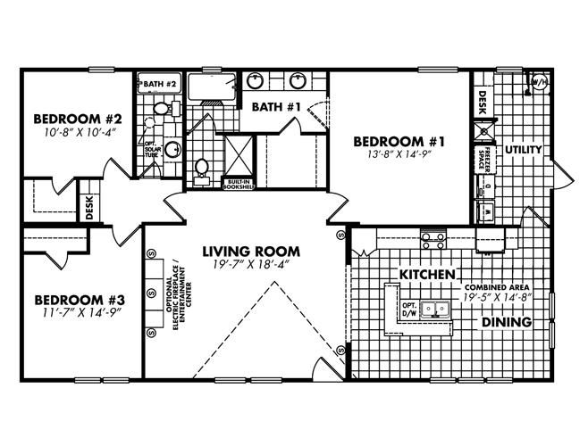 Floor Plan Layout: Heritage / 3256-32D