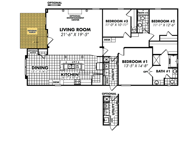 Floor Plan Layout: Heritage / 3256x64-32A