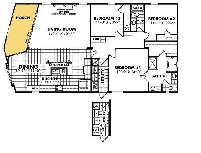 Floor Plan Layout: Classic / 3264-32BP