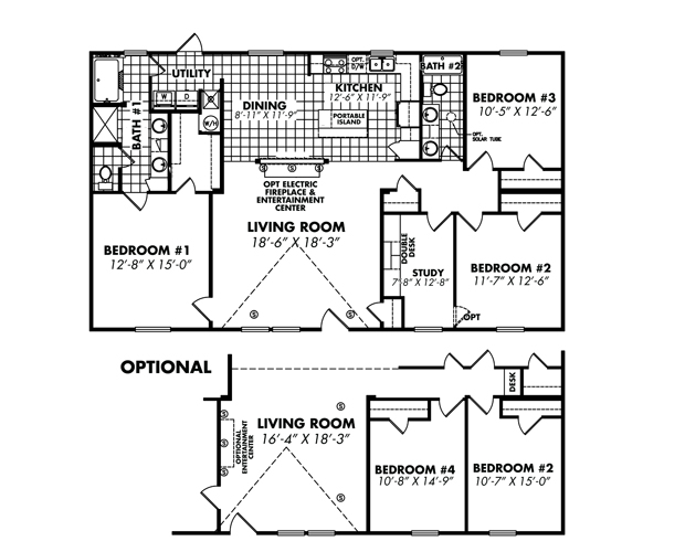 Floor Plan Layout: Elite / 3264-32EL