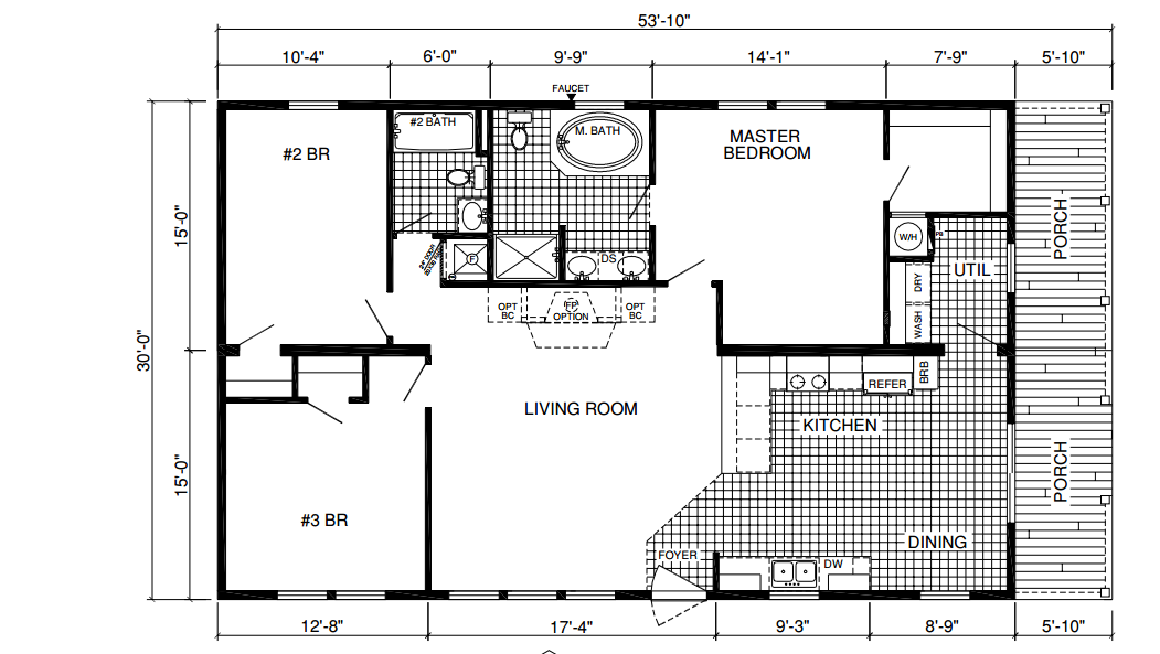 Deer valley mobile home floor plans for Mobile home plan