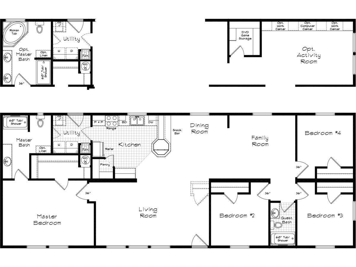 Floor Plan Layout: Pinehurst / 2505