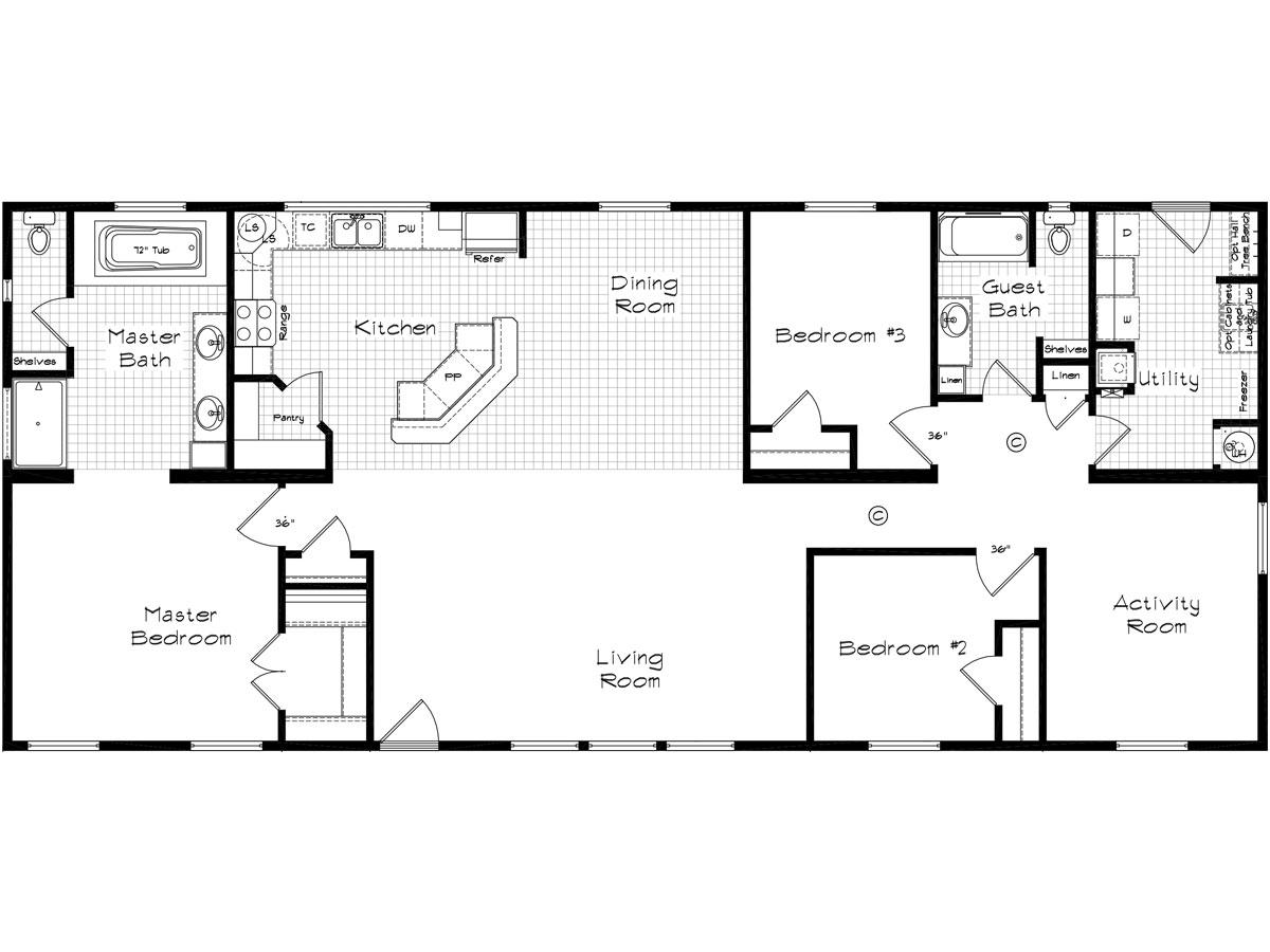 Floor Plan Layout: Pinehurst / 2506