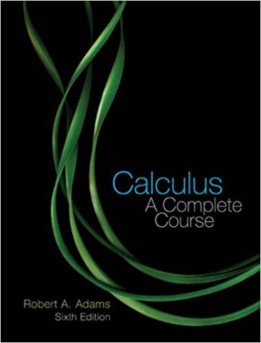 Book Cover for Calculus A Complete Course 6th