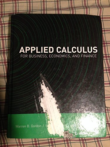 Book Cover for Applied Calculus For Business, Economics, and Finance