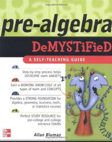Book Cover for Prealgebra Demystif…
