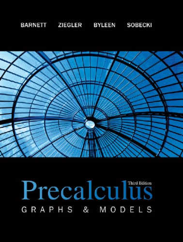 Book Cover for Precalculus: Graphs…
