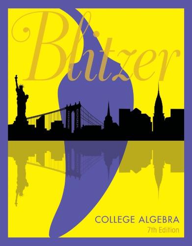 Book Cover for College Algebra 7e