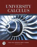 Book Cover for University Calculus: Early Transcendentals 4th
