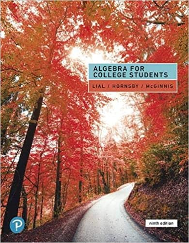 Book Cover for Algebra for College…