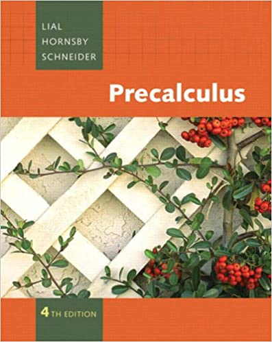 Book Cover for Precalculus  4th