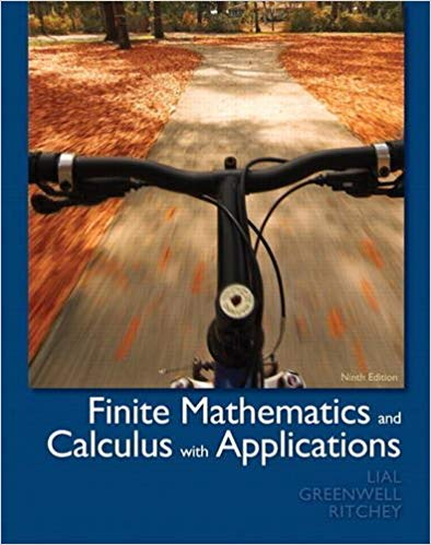 Book Cover for Finite Mathematics and Calculus with Applications