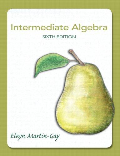 Book Cover for Intermediate Algebra