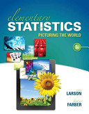 Book Cover for Elementary Statistics: Picturing the World 6th
