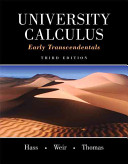 Book Cover for University Calculus: Early Transcendentals 3rd