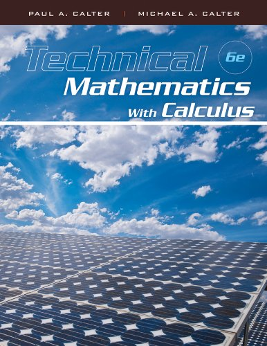 Book Cover for Technical Mathematics with Calculus 6th