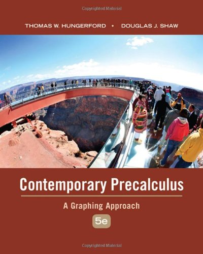 Book Cover for Contemporary Precalculus: A Graphing Approach 5th