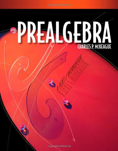 Book Cover for Prealgebra 6e