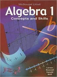 Book Cover for ALGEBRA 1 Concept a…