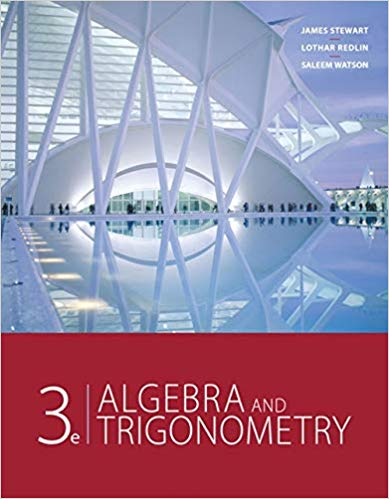 Book Cover for Algebra and Trigonometry 3rd