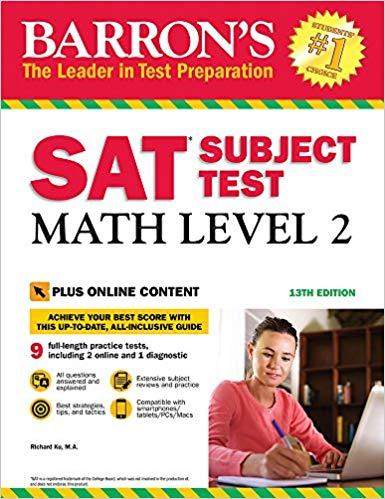 Book Cover for Math Level 2 SAT Su…