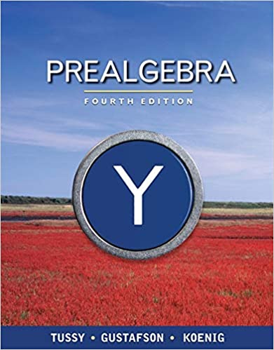 Book Cover for Prealgebra 4th