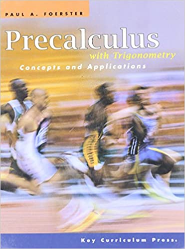 Book Cover for Precalculus with Trigonometry: Concepts and Applications