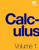 Book Cover for Calculus Volume 1