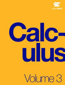Book Cover for Calculus Volume 3