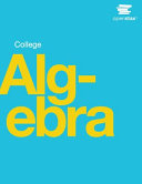 Book Cover for College Algebra (Op…