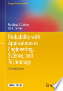 Book Cover for Probability with Applications in Engineering, Science, and Technology