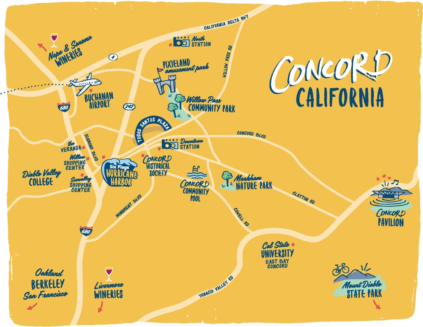 Yellow Concord Map
