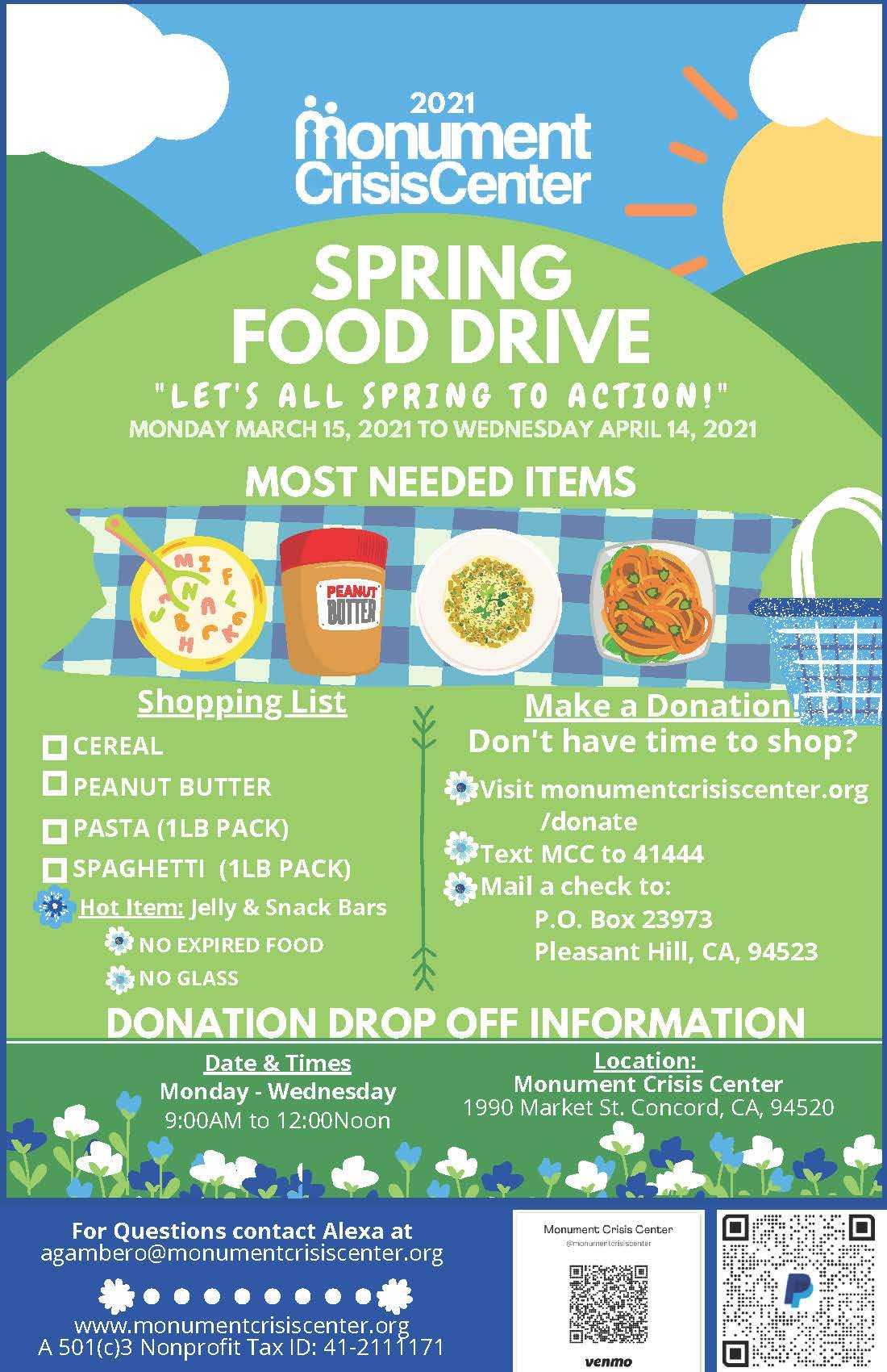 MCC Spring Food Drive