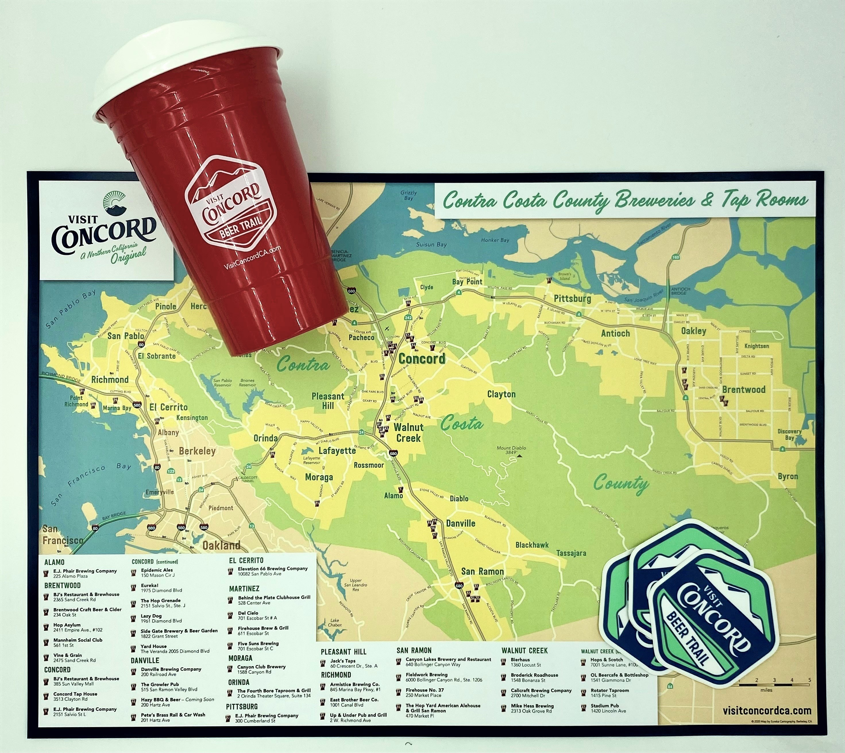 Contra Costa County Beer Trail Map