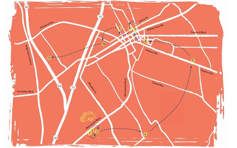 Concord Taco Trail Map