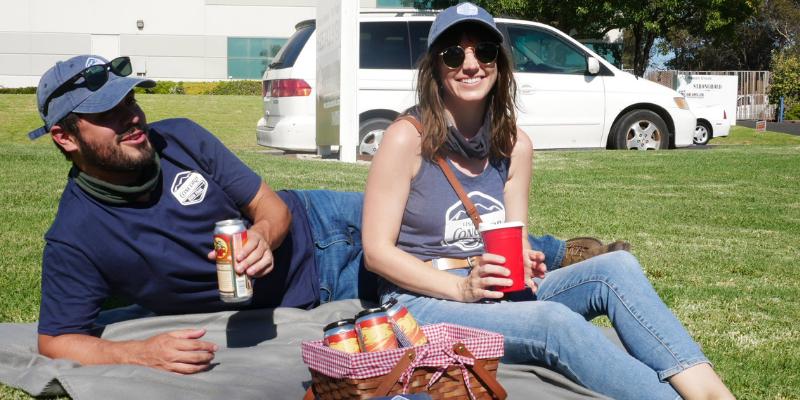 Two People enjoying beer