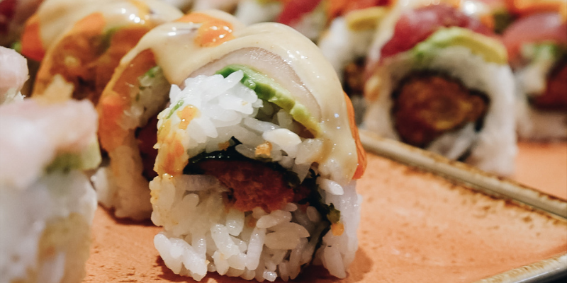Sushi at Mikini
