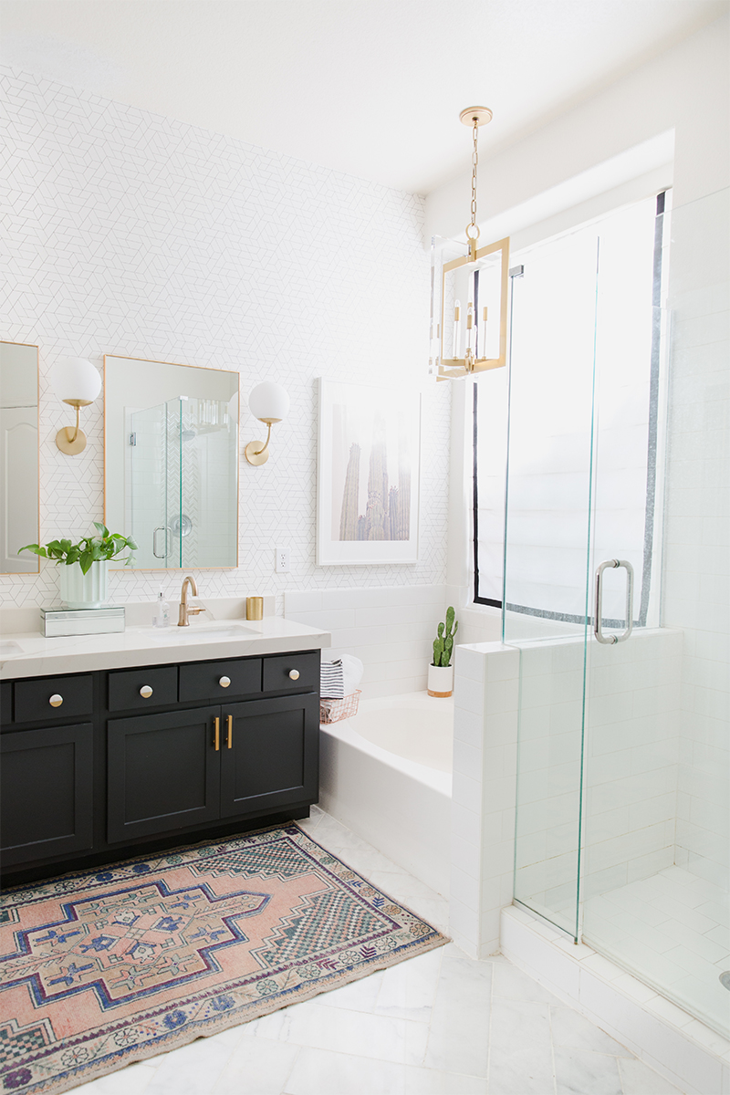 7 Painted Bathroom Cabinet Before and Afters That'll Make You Run Out for Color Swatches | Hunker