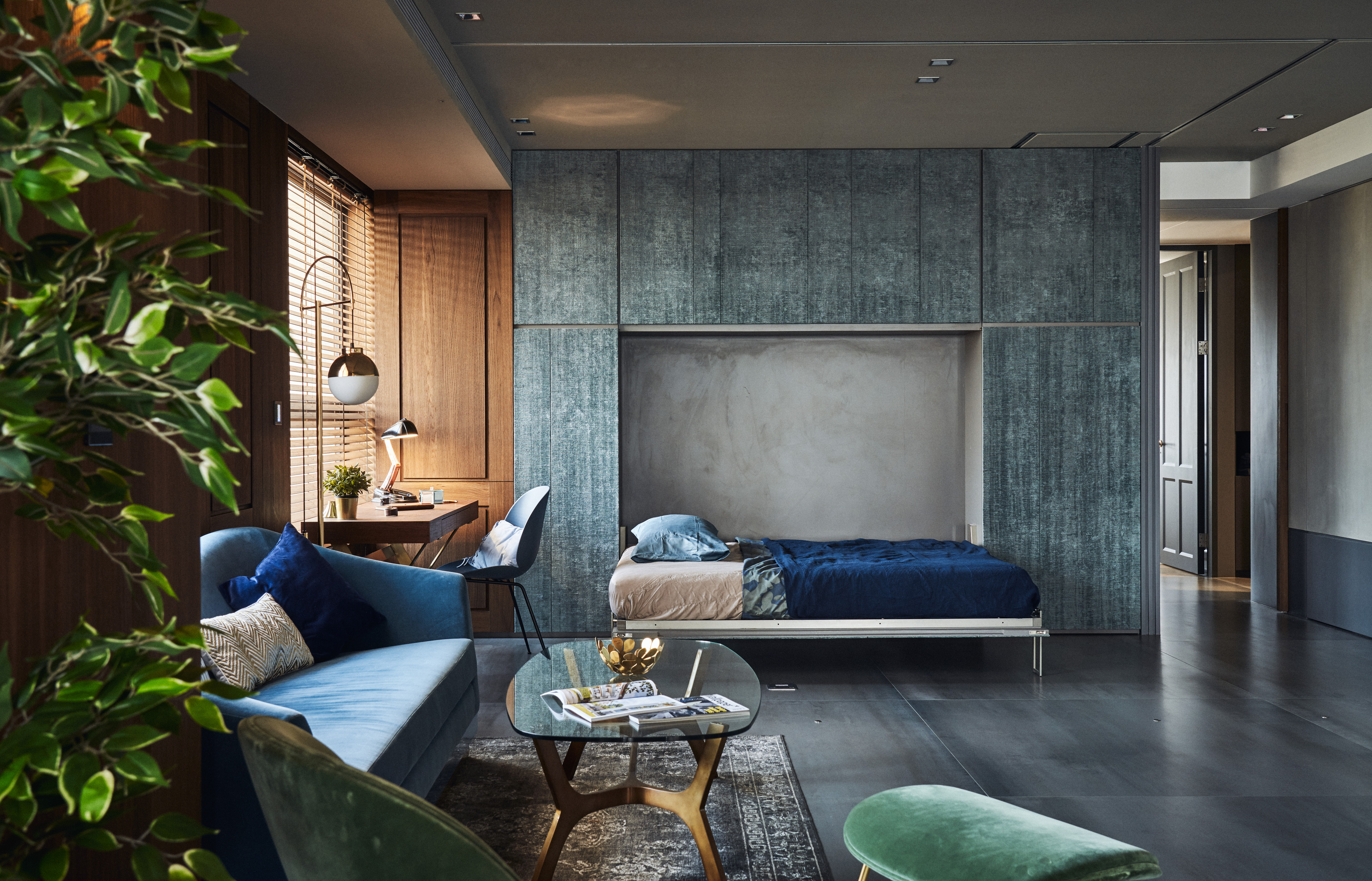 Tour This Urban Home With Luxe, Noir-Like Drama | Hunker