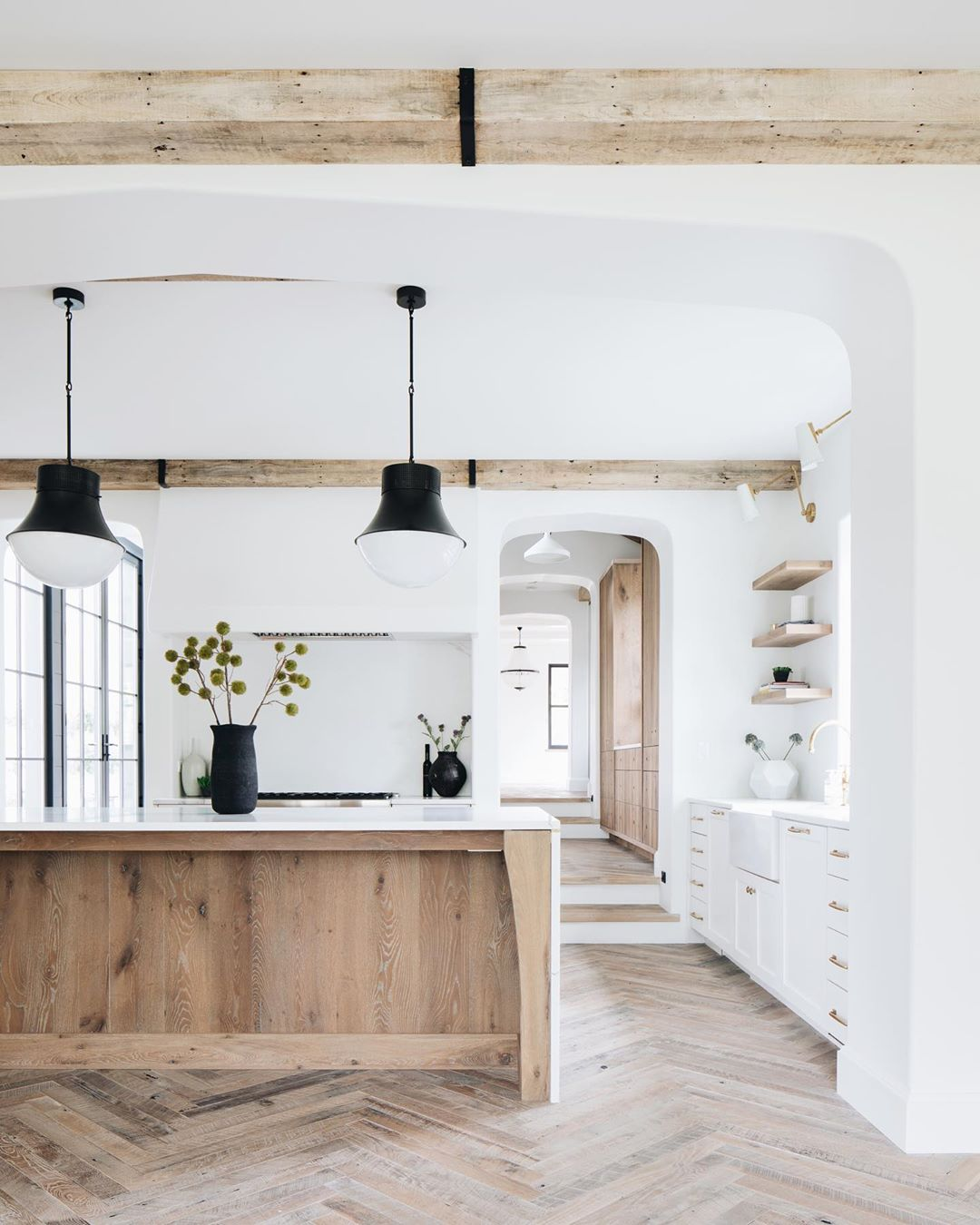 Ideas For White Kitchens With Wood Kitchen Islands Hunker