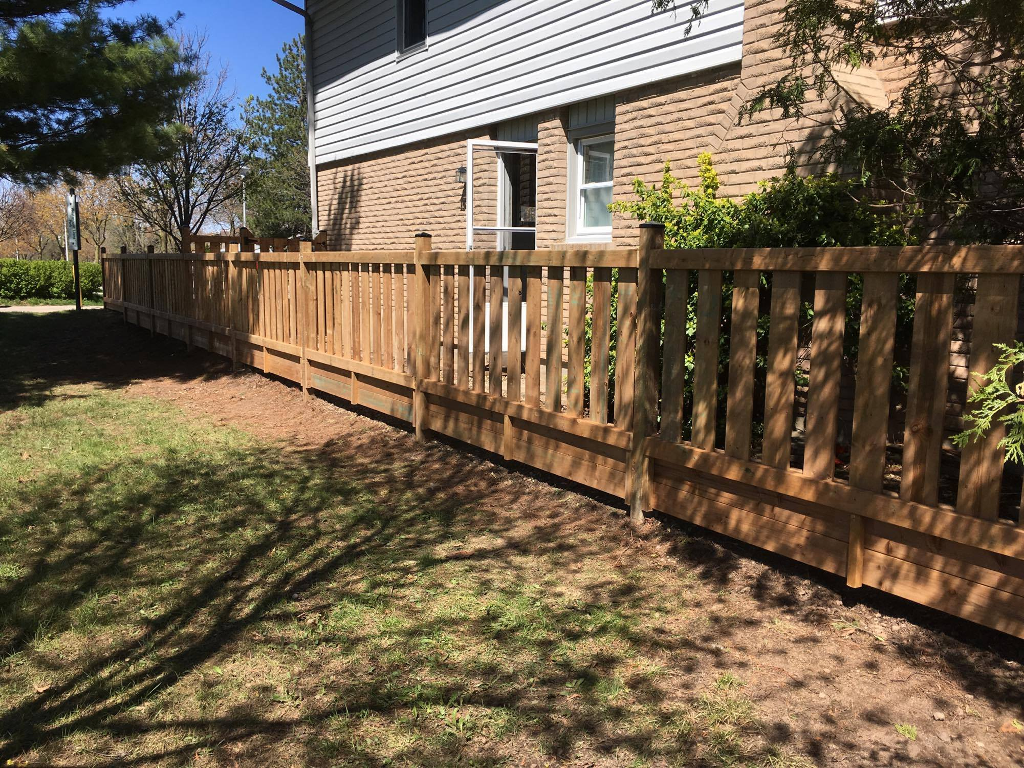 How to Replace a Wooden Fence Post   Hunker