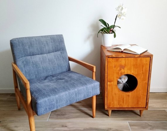 9 Stylish Ways To Hide Your Cat S Litter Box Hunker