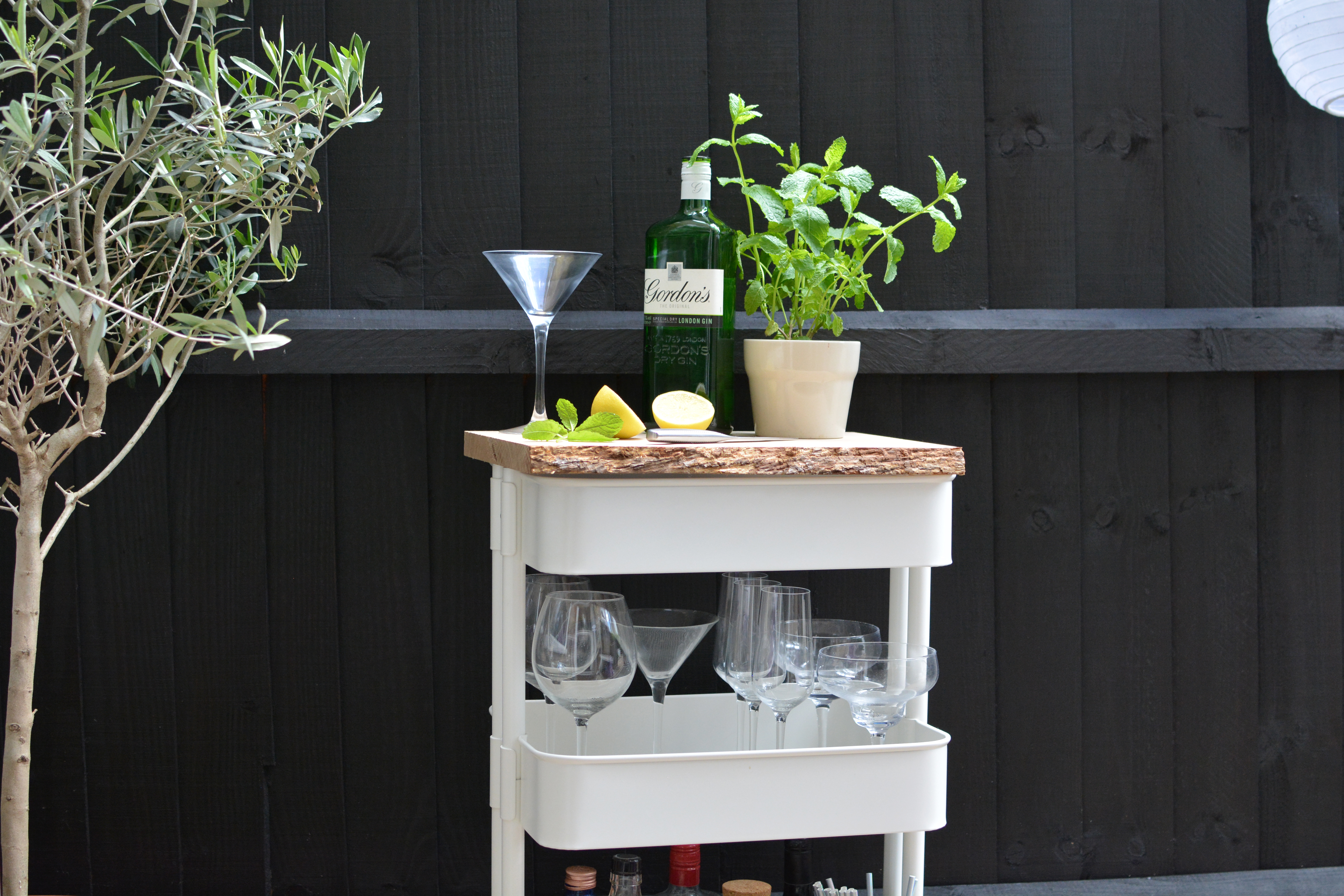 Turn A Popular Ikea Kitchen Cart Into A Swanky Outdoor Drinks Station Hunker