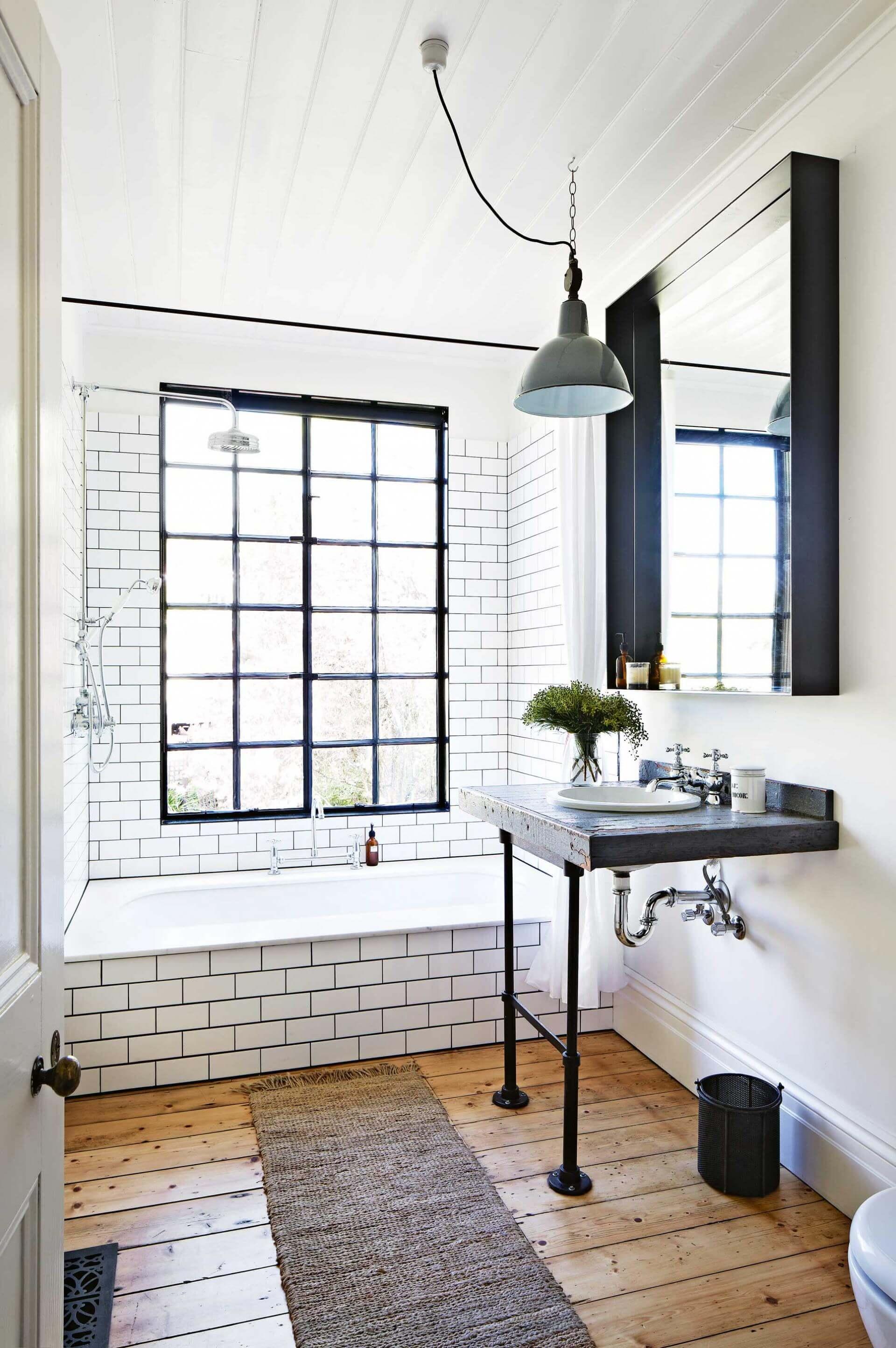 20 Stunning Industrial Bathroom Ideas   Hunker