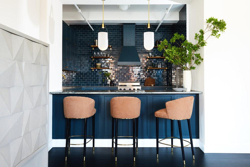 12 Perfect Ideas For Blue Kitchen Backsplashes Hunker