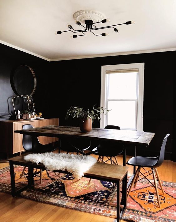 Black Dining Room Color Ideas For Your Consideration Hunker