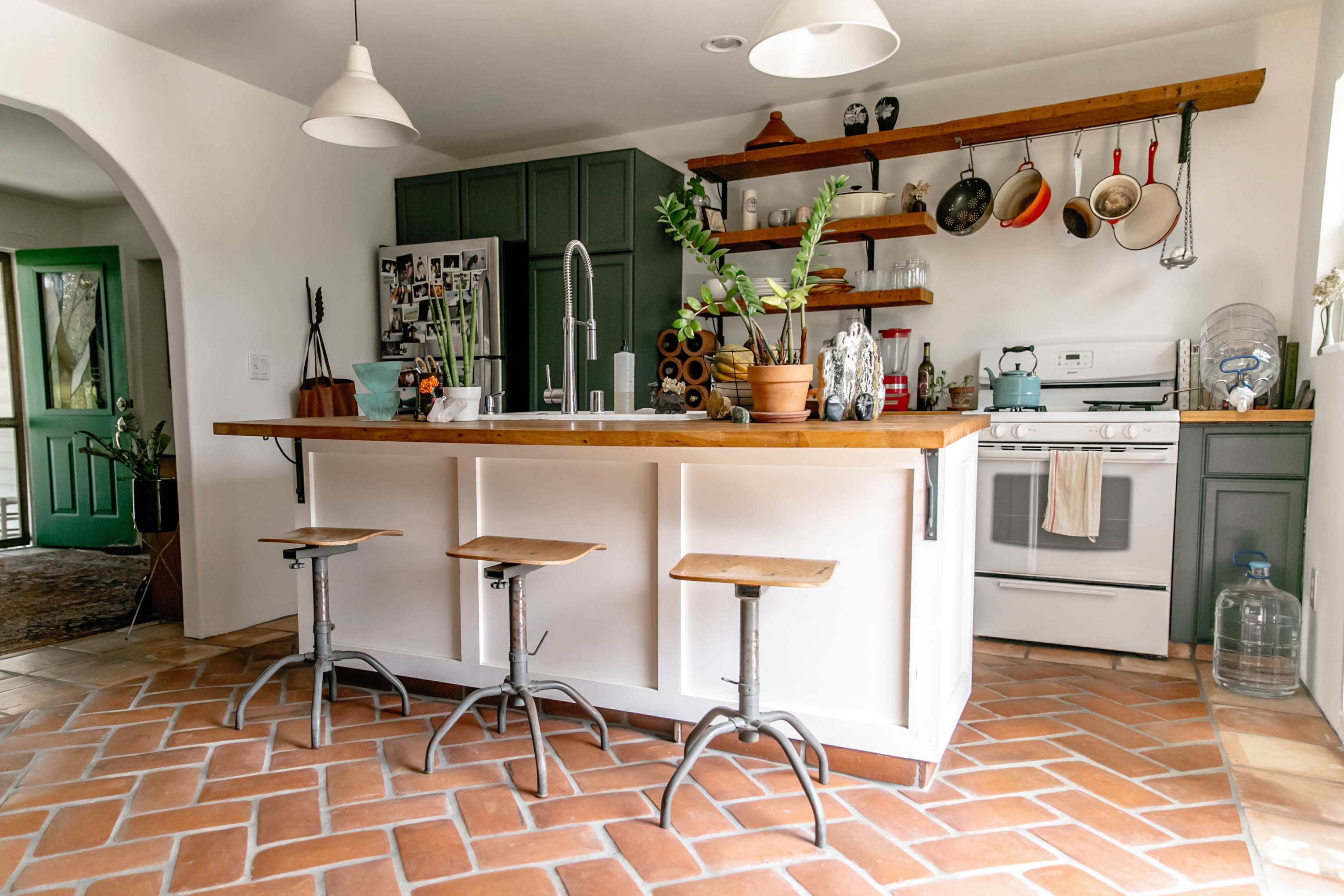 Mexican Inspired Tile Floors In The Kitchen Ideas And Inspiration Hunker