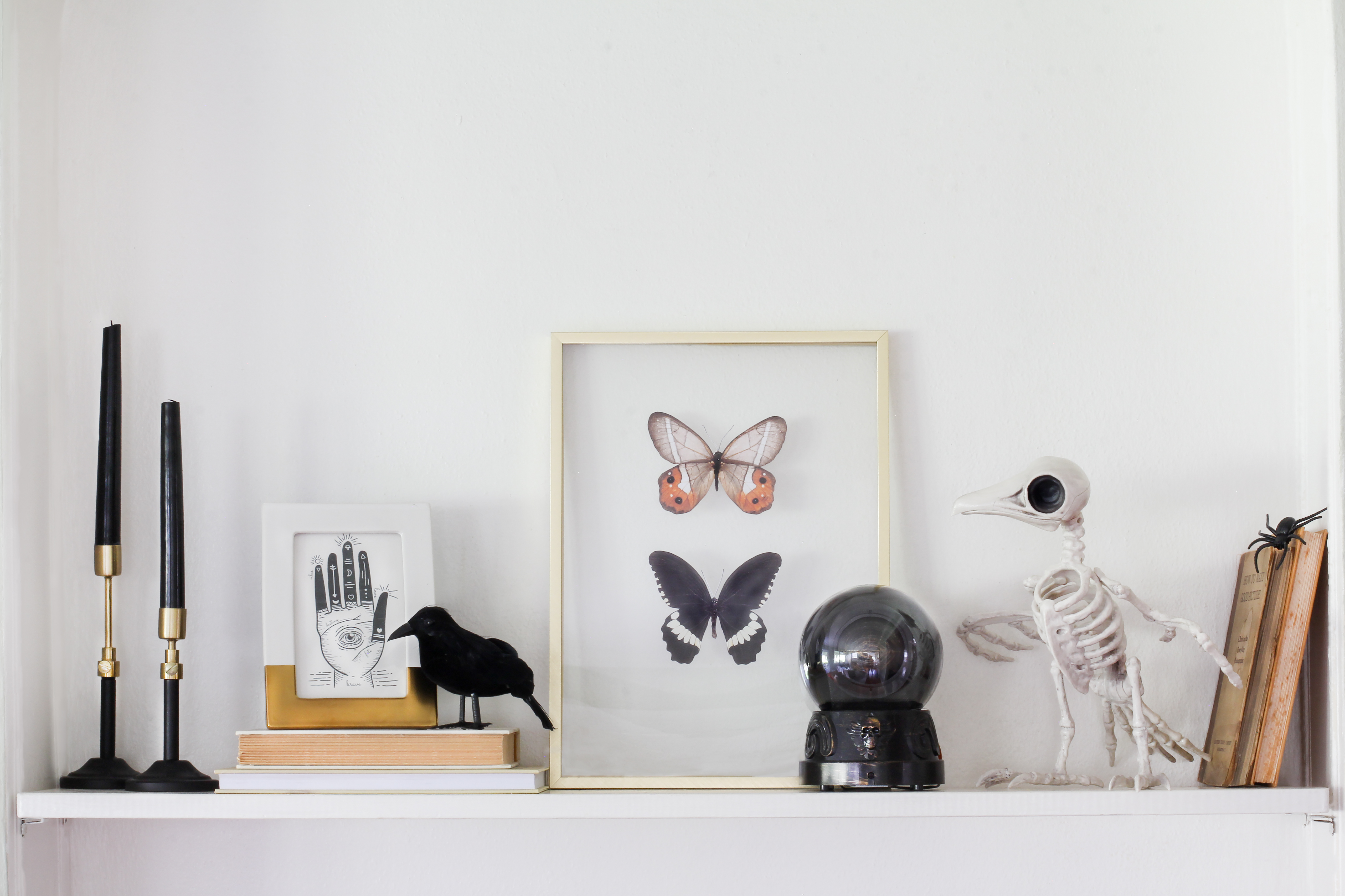 How to Make a Spooky Shelfie Using Items From Target's Halloween Boutique